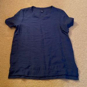 Women's Gap Navy Short Sleeve Shirt, Size M